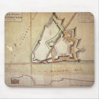 Plan of the New Fort at Pittsburgh Mouse Pads