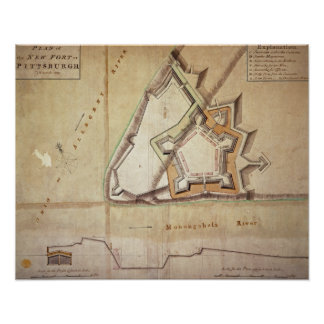 Plan of the New Fort at Pittsburgh Poster