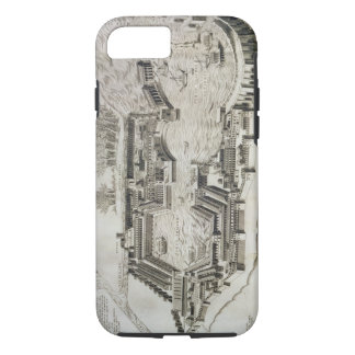 Plan of the port of Ostia Antica, engraved by the iPhone 7 Case