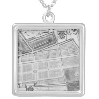 Plan of the Royal Garden Silver Plated Necklace