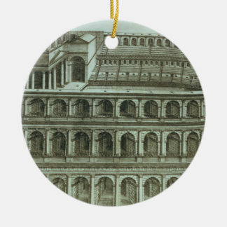 Plan of the Theatre of Marcellus, Rome, 1558 (engr Christmas Ornament