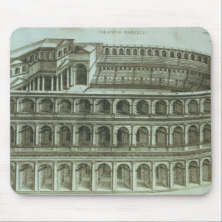 Plan of the Theatre of Marcellus, Rome, 1558 (engr Mouse Mat