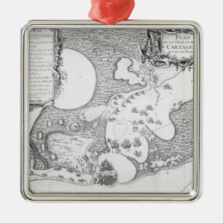 Plan of the Town and Harbour of Cartagena Christmas Ornament
