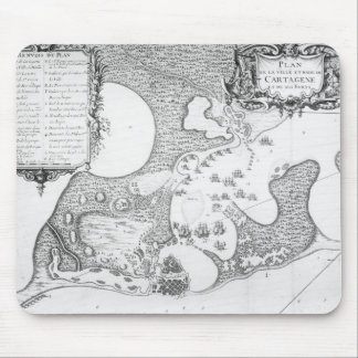 Plan of the Town and Harbour of Cartagena Mouse Mat