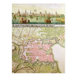 Plan of the town of La Rochelle, 1736 Postcard