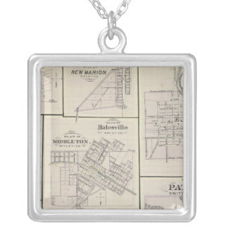 Plan of Vevay, Switzerland Co with Patriot Silver Plated Necklace