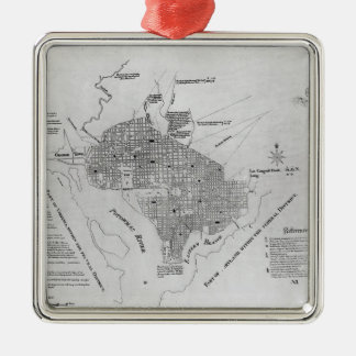 Plan of Washington D.C. Christmas Ornament