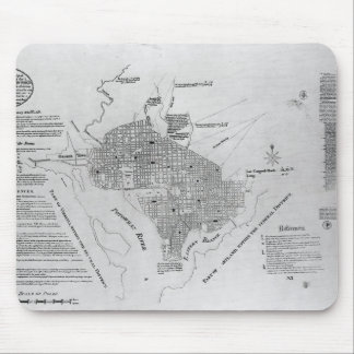 Plan of Washington D.C. Mouse Mat