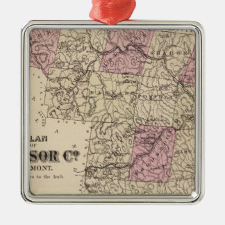 Plan of Windsor Company in Vermont Christmas Ornament