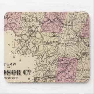Plan of Windsor Company in Vermont Mouse Pad