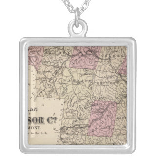 Plan of Windsor Company in Vermont Silver Plated Necklace