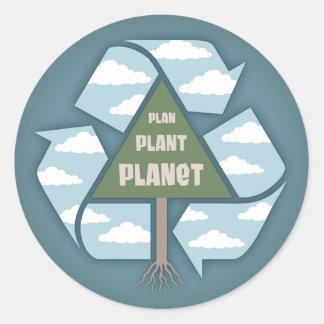 Plan-Plant-Planet Classic Round Sticker