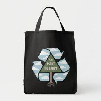 Plan-Plant-Planet Grocery Tote Bag