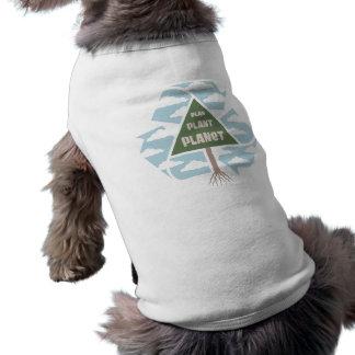 Plan-Plant-Planet Sleeveless Dog Shirt