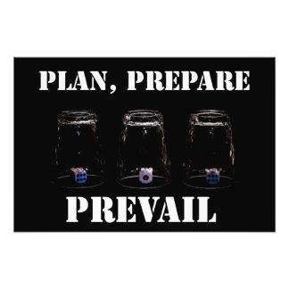Plan, prepare, prevail photo print