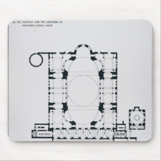 Plan to show the orientation of the narthex mouse pad