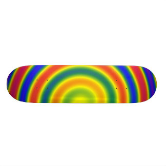 Planche spirale arc-en-ciel skateboards customisés