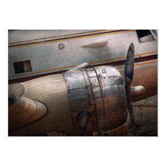 Plane - A little rough around the edges 13 Cm X 18 Cm Invitation Card