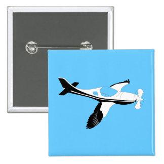 Plane Bird 15 Cm Square Badge