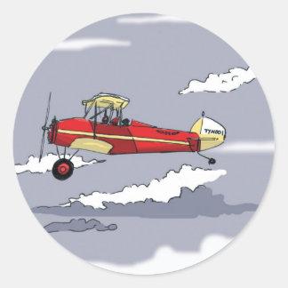 plane classic round sticker