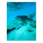 Plane crash underwater postcards