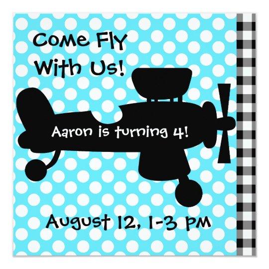 Plane Crazy Birthday Bash Invitations