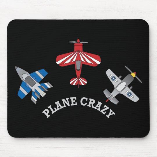 Plane Crazy Mouse Pad