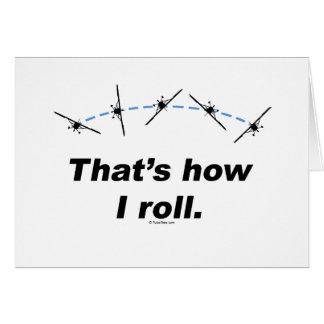 Plane How I Roll Card