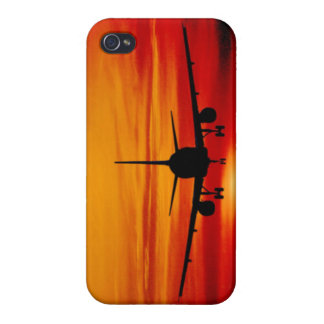 Plane in Sunset iPhone 4 Cover