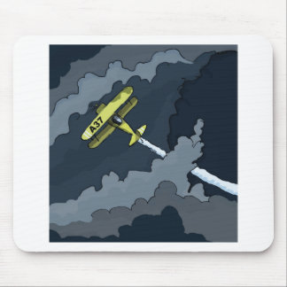 plane in the clouds mouse pads