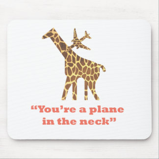 Plane in the Neck Mousepads