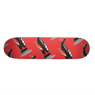 Plane pattern red skate deck