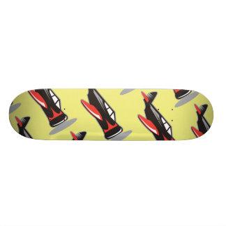 Plane pattern yellow skate decks