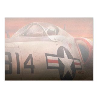Plane - Pilot - Airforce - Go get em Tiger 13 Cm X 18 Cm Invitation Card