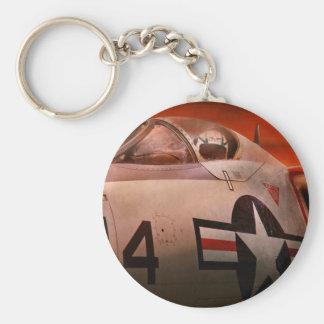 Plane - Pilot - Airforce - Go get em Tiger Keychains