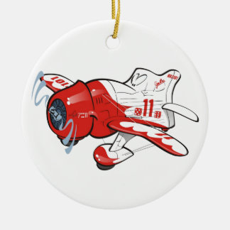 plane racer christmas ornament