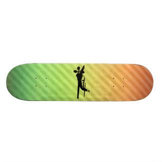 Plane silhouette skate board decks