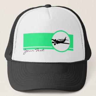 Plane silhouette trucker hat
