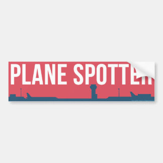 Plane Spotting Spotter Red Bumper Sticker