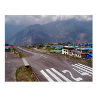 Plane Takeoff at Lukla Mountain Airport, Nepal Postcard