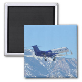 Plane taking off at the airport magnet