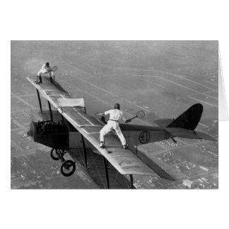 Plane Tennis Greeting Card