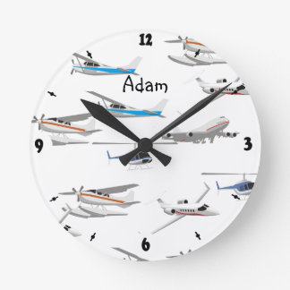 Planes airplanes round clock