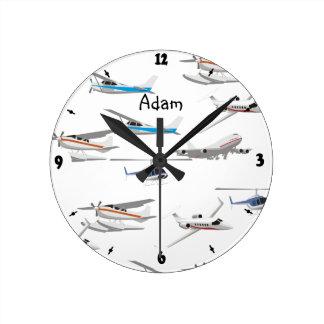 Planes airplanes wall clocks
