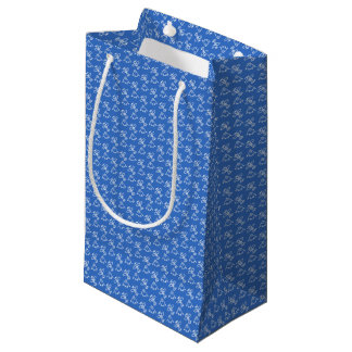 Planes blue small gift bag