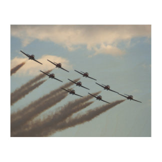 Planes Formation Wood Canvas
