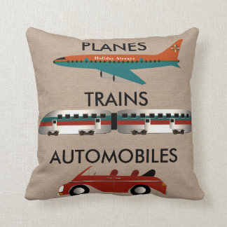Planes, Trains and Automobiles Cushion