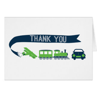Planes Trains and Automobiles Thank You Card
