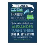 Planes, Trains & Automobiles Invitation