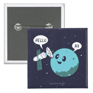 Planet 15 Cm Square Badge